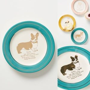 Anthropologie Dog Biography Quincy Canape Plate